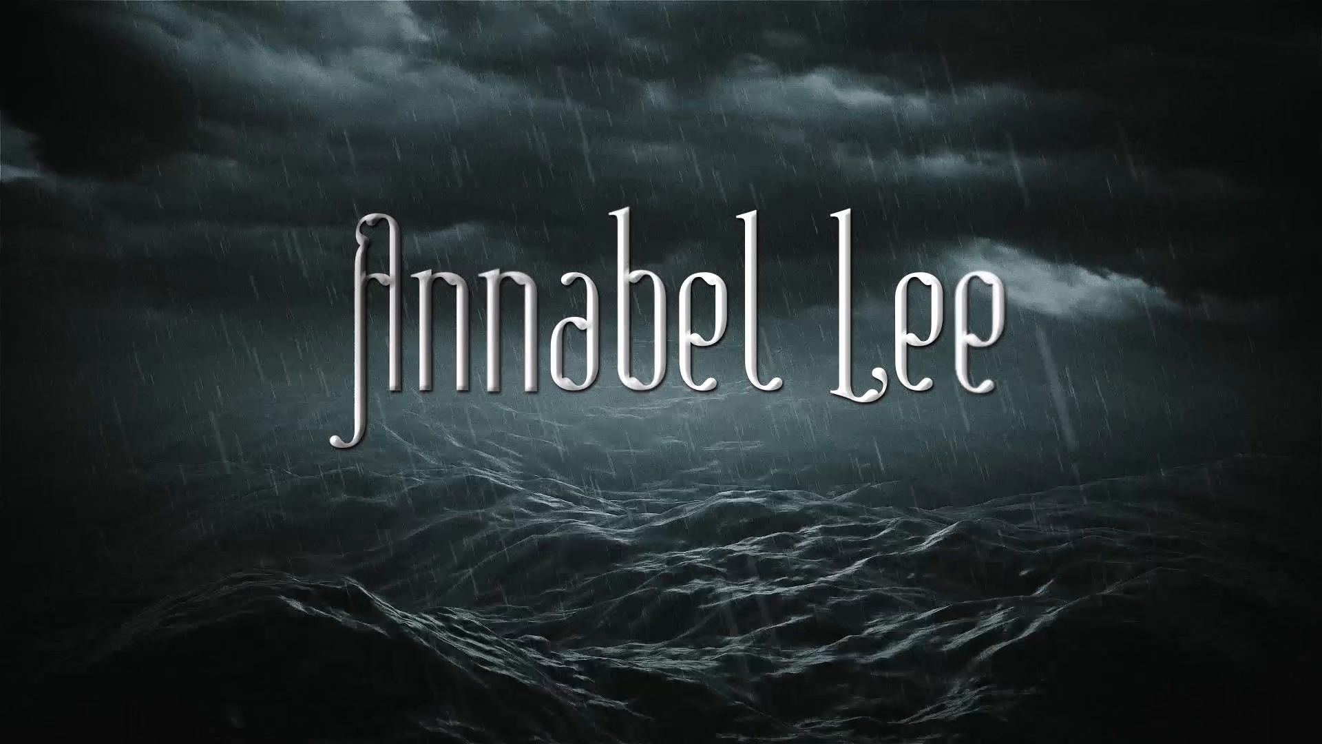 annabell lee It was many and many a year ago, in a kingdom by the sea, that a maiden lived  whom you may know by the name of annabel lee - and this maiden she.